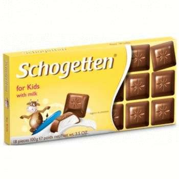 Schogetten for Kids Молочный шоколад с молочной начинкой, 100 г