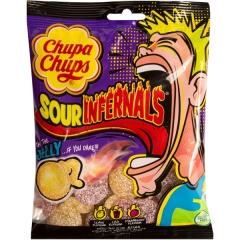 Жевательные кислые конфеты Chupa Chups (sour infernals Jelly) 150гр