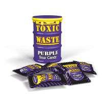 Кислые конфеты Toxic Waste фиолетовые 42 г
