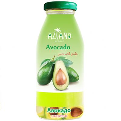 Aziano 30% нектар Авокадо с мякотью стекло (250мл)