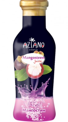 Aziano нектар 30% Мангостин с кусочками фрукта стекло (265 мл)