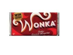 Шоколад Wonka красный молочный с золотым билетом 200g