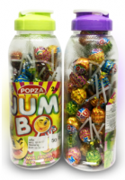 "Конфеты на палочке кола, клубника, лимон (Бутылка) ""Popza Jumbo Plus Lollipop Water Bottle 8 грамм"""