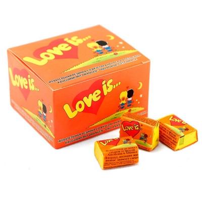 Жевательная резинка Love is (апельсин-ананас)