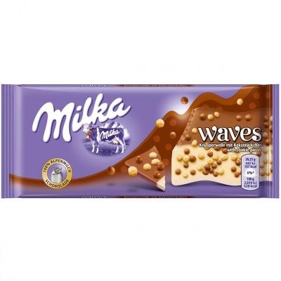 Шоколад Milka Waves Cookie (81 грамм)