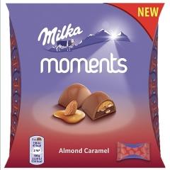 Конфеты Milka Moments Almond Caramel 96гр