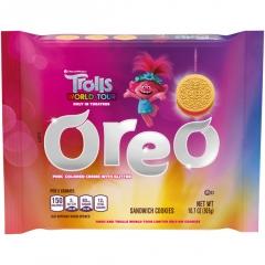 Oreo Trolls World Tour Pink Glitter Sandwich Cookies 303g