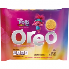 Oreo Trolls World Tour Pink Glitter Sandwich Cookies 303g
