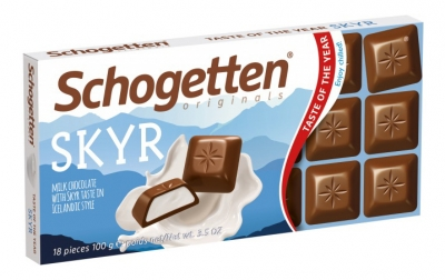 """Schogetten SKYR """"Молочный шоколад с кремовой начинкой скандинавский йогурт"""" 100 гр"""