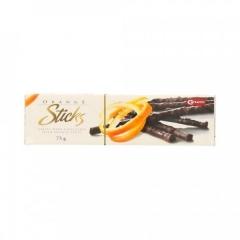 """CARLETTI """"Шоколадный тростник с апельсином"""" Темный шоколад 75 гр"""