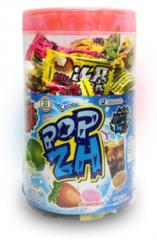 "Конфеты кола, клубника, лимон ""Popza Candy (mixed flavoures - Cola/Strawberry/Lemon)"" 300 грамм"