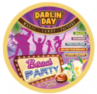 "Карамель леденцовая ""DARLIN DAY"" BEACH PARTY со вкусом: мята-лайм, ананас-кокос, дыня-лайм 180 грамм"