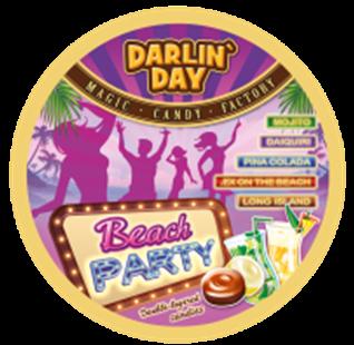 "Карамель леденцовая ""DARLIN DAY"" BEACH PARTY со вкусом: мята-лайм, ананас-кокос, дыня-лайм 180 грамм"