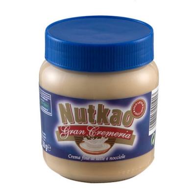 Шоколадная паста Nutkao JAR Milk White Hazelnut (350 грамм)