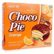 Апельсиновые пирожные Choco Pie Lotte (336 грамм)