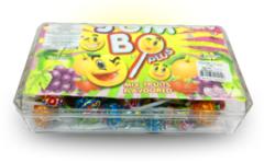 """Конфеты на палочке кола, клубника, лимон (прямоугольный бокс) """"Popza Jumbo Plus Lollipop Crystal Box 8 грамм"""""""