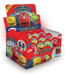 """Шоколадное яйцо с сюрпризом """"Паровозик Чаггингтон"""" 20 грамм"""