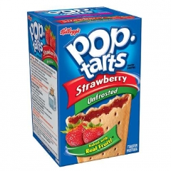 Печенье Pop Tarts 8 PS Unfrosted Strawberry 416 грамм