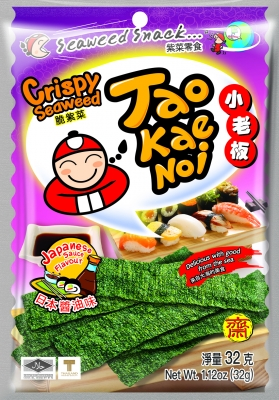 TAOKAENOI Crispy Seaweed (Japanese Sauce Flavour) 32g