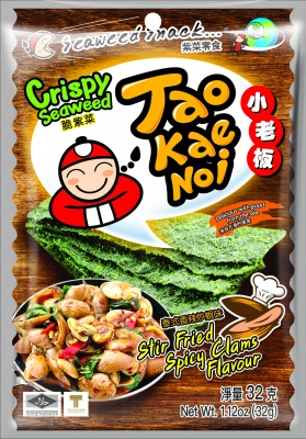 TAOKAENOI Crispy Seaweed (Stir Fried Spicy Clams Flavour) 32g