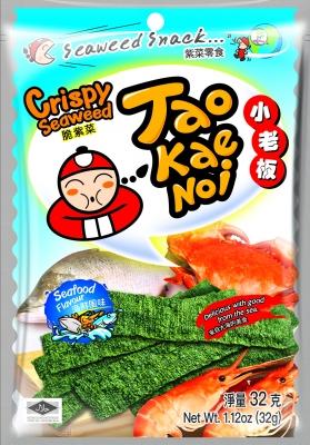 TAOKAENOI Crispy Seaweed (Seafood Flavour) 32g