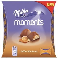 Шоколадные конфеты Toffee Wholenut Moments Milka 97 гр
