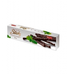 "CARLETTI Mint sticks ""Шоколадный тростник со вкусом мяты"" Темный шоколад 75 гр"
