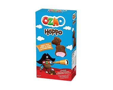 Ozmo Hoppo Подушечки с клубничной начинкой 40гр