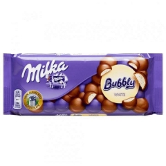 Шоколад Milka Bubbly White (90 грамм)
