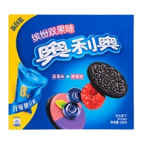 Oreo Colorful double fruity Sandwich with raspberry and blueberry 388g
