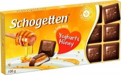 """Schogetten YOGHURT&HONEY """"Молочный шоколад с начинкой из обезжиренного йогурта и гранулами меда"""" 100 гр"""