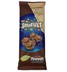 Смартис молочная шоколадная плитка + драже 90 гр
