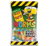 Жевательный мармелад Toxic Waste Worms 142 гр