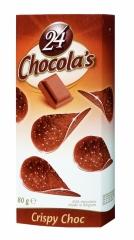 Шоколадные чипсы Chocola's Crispy Choc (Молочный Шоколад) 80гр