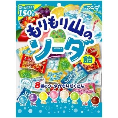 Kanro карамель, ассорти 8 фруктовых вкусов, 150 гр