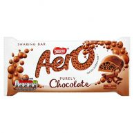 Nestle Aero Milk Chocolate 100g
