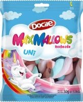 "Зефир MAXMALLOWS UNICORN ""цветные завитки с начинкой ванильные"" 50гр"