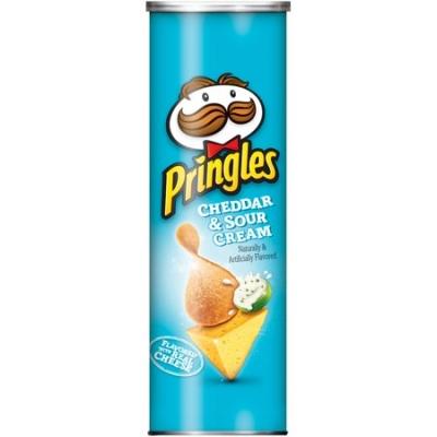 Pringles Cheddar & Sour Cream Картофельные чипсы 158gr