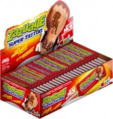 Жев. конфета Zazuage Strawberry Super Tattoo 10,8 гр