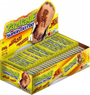 Жев. конфета Zazuage Pineapple Super Tattoo 10,8 гр