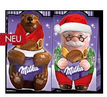 Подарочный набор Микс Милка Дед Мороз и Медведица 152 гр