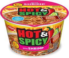 Лапша Nissin Хот Спайси Рамен Креветка с соусом Чили (SHRIMP) 92,6гр