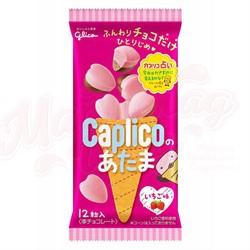 Шоколад с клубникой Glico caplico в форме сердечек 30гр