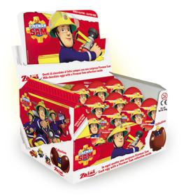 """Шоколадное яйцо с сюрпризом """"Пожарный Сэм"""" 20 грамм"""