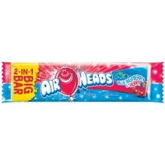 AirHeads Big Bar - Blue Raspberry and Cherry Леденец 2в1 42,5гр