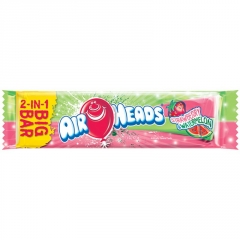 AirHeads Big Bar - Strawberry and Watermelon Леденец 2в1 42,5гр