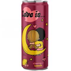 Газированный напиток LOVE IS Вишня и Лимон 330мл