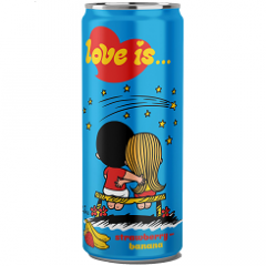 Газированный напиток LOVE IS Клубника и Банан 330мл