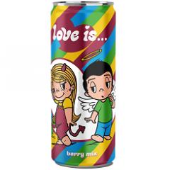 Газированный напиток LOVE IS Микс вкусов 330мл
