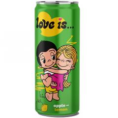 Газированный напиток LOVE IS Яблоко и Лимон 330мл